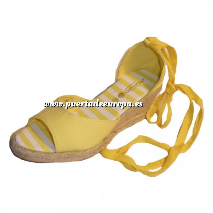 Imagen Tallas 35-39 Valenciana tacón Abierta Amarilla suela rayas Talla 39 (PDE) Y104307 (Últimas Unidades)