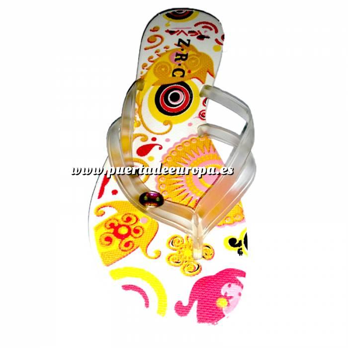 Imagen Tallas 40-42 Chancla Playa Blanca Colorines Talla 40 (PDE) (Últimas Unidades)