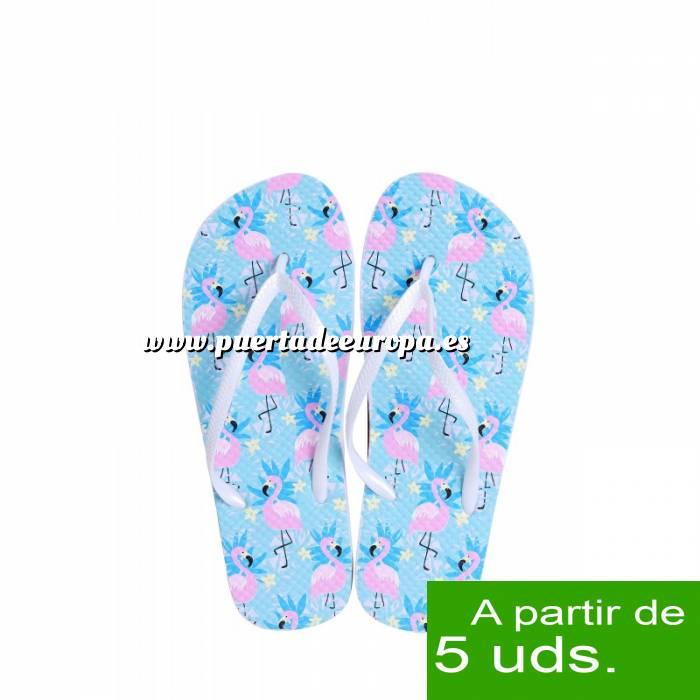 Imagen Tallas 40-42 Chancla Playa Flamencos Colorines Talla M (Últimas Unidades)