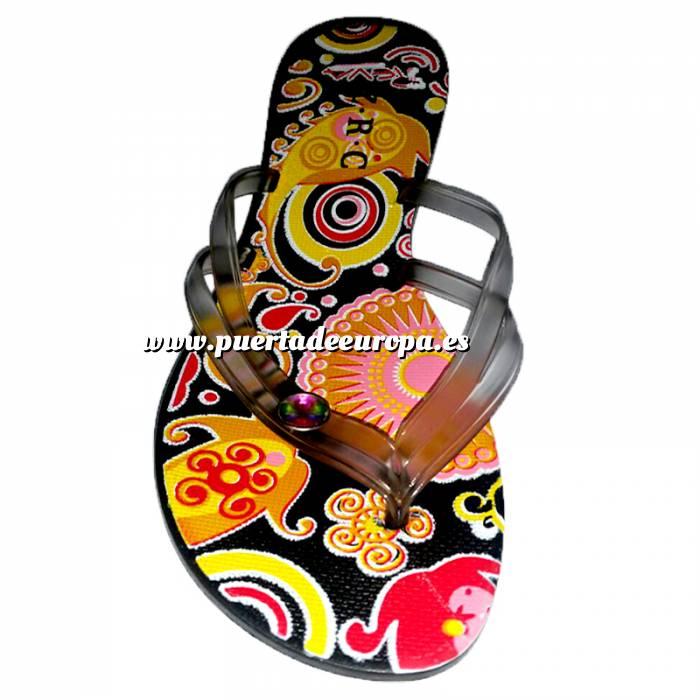 Imagen Tallas 40-42 Chancla Playa Negra Colorines Talla 41 (PDE) (Últimas Unidades)