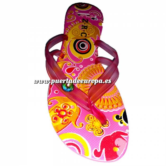 Imagen Tallas 40-42 Chancla Playa Rosa Colorines Talla 41 (PDE) (Últimas Unidades)