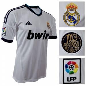 Camiseta Real Madrid - Camiseta Oficial Adidas del 110 aniversario del Real Madrid - Talla S Blanca