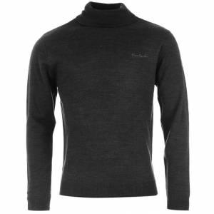 Jerseys Pierre Cardin - Jersey fino de cuello alto CHARCOAL (Gris Oscuro) Pierre Cardin - Talla XL (Últimas Unidades)