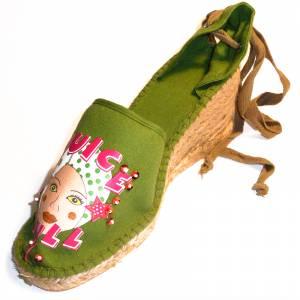 Kaki - Alpargata valenciana CH2267 Mujer Kaki Talla 40