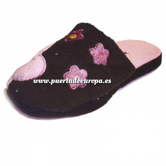 Imagen Rosa PFLR Pantunfla flores mujer Rosa Talla 38