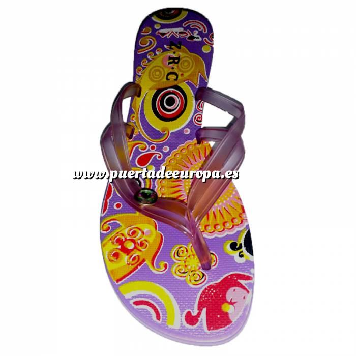 Imagen Tallas 35-39 Chancla Playa Morada Colorines Talla 36 (PDE) (Últimas Unidades)