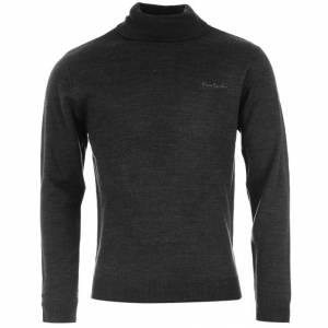 Jerseys Pierre Cardin - Jersey fino de cuello alto CHARCOAL (Gris Oscuro) Pierre Cardin - Talla XXL (Últimas Unidades)