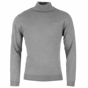 Jerseys Pierre Cardin - Jersey fino de cuello alto GREY MARL Pierre Cardin - Talla XXXL (Últimas Unidades)