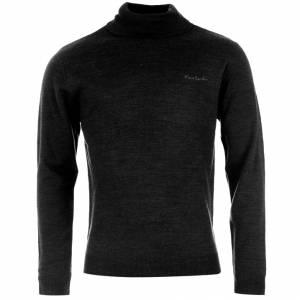 Jerseys Pierre Cardin - Jersey fino de cuello alto NEGRO Pierre Cardin - Talla XL (Últimas Unidades)