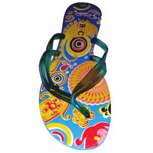 Tallas 35-39 - Chancla Playa Azul Celeste Colorines Talla 36 (PDE) (Últimas Unidades)